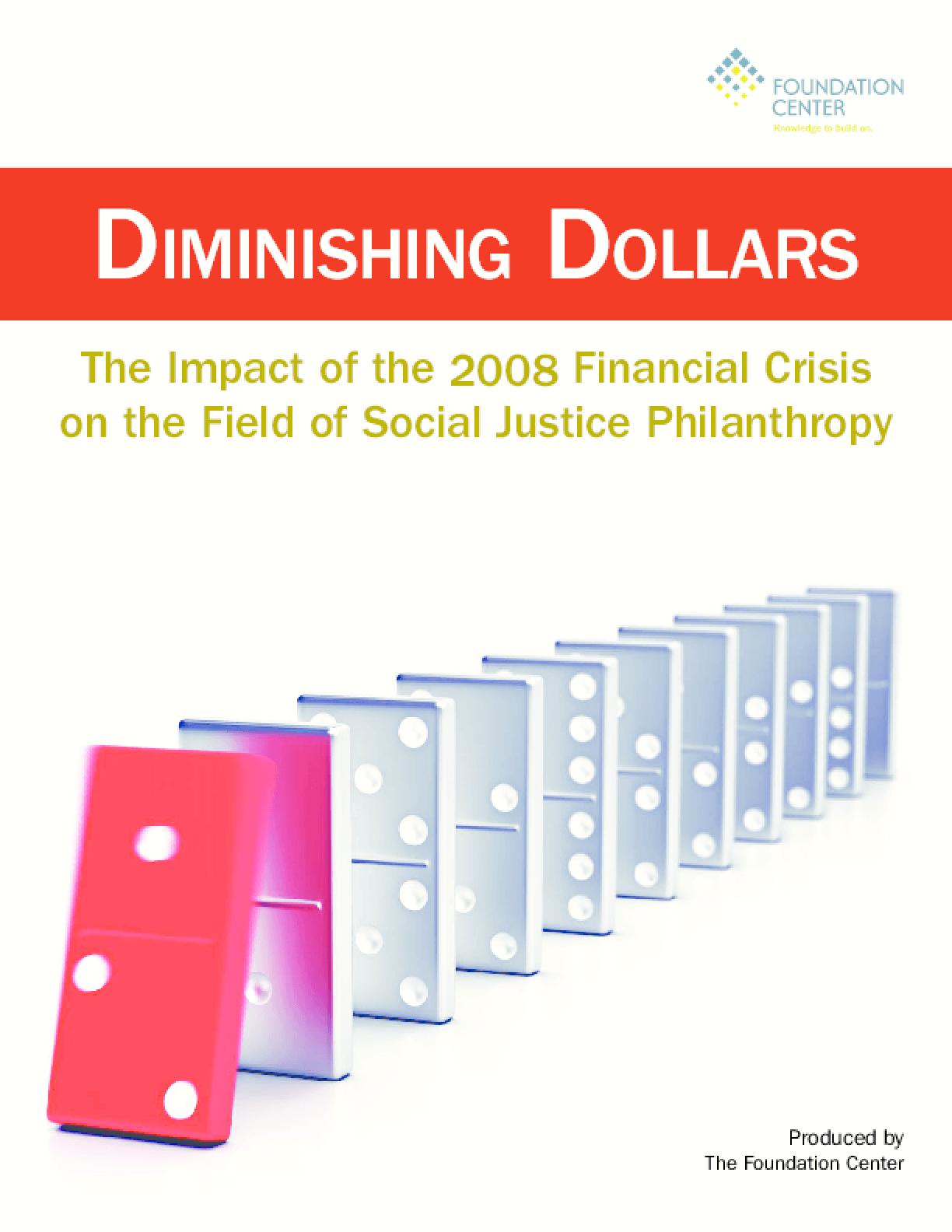 Diminishing Dollars for Social Justice Philanthropy