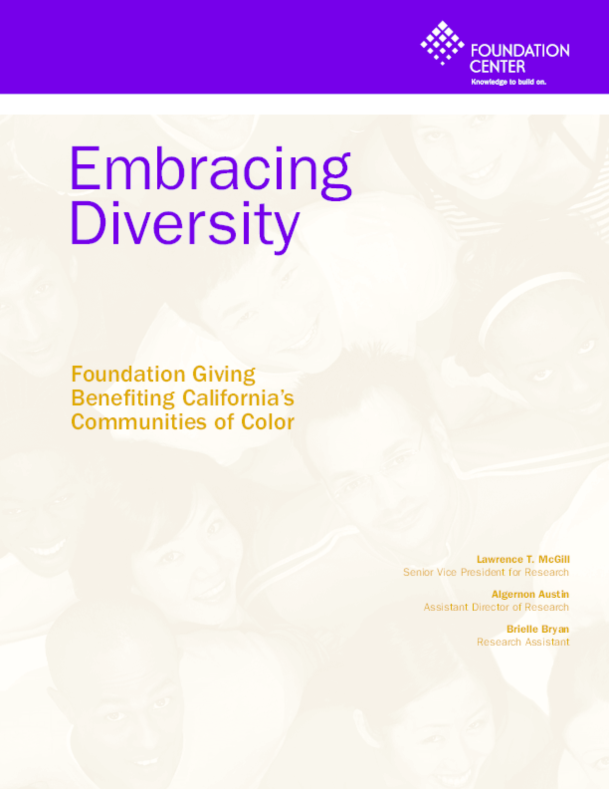 Embracing Diversity: Foundation Giving Benefiting California's Communities of Color