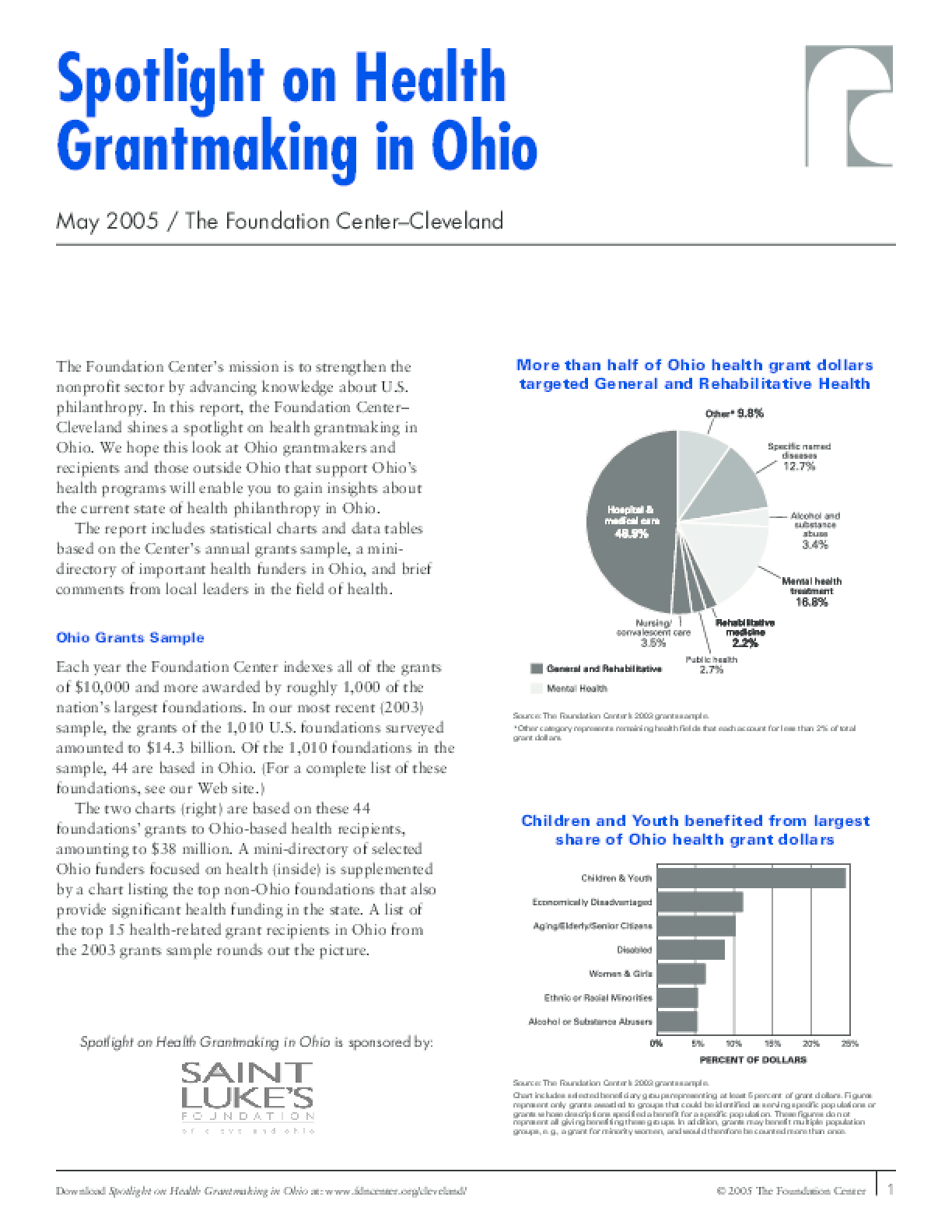 Spotlight on Health Grantmaking in Ohio 2005