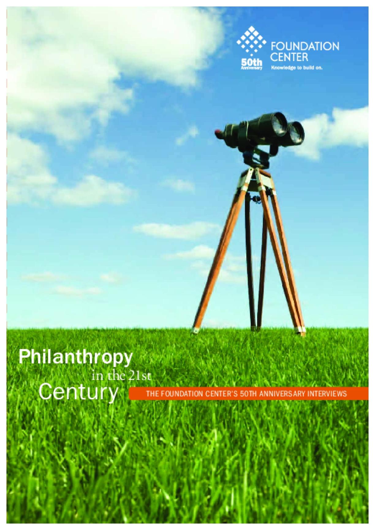 Philanthropy in the 21st Century