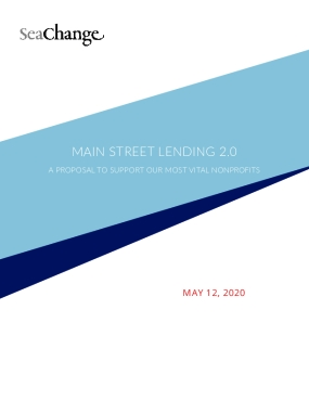 Main Street Lending 2.0: A Proposal to Support Our Most Vital Nonprofits