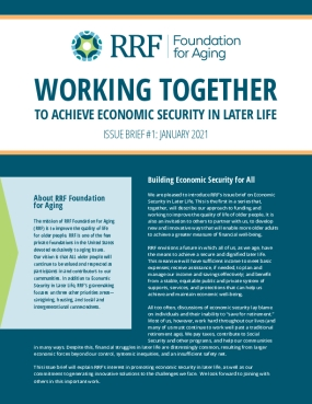 Working Together to Achieve Economic Security in Later Life