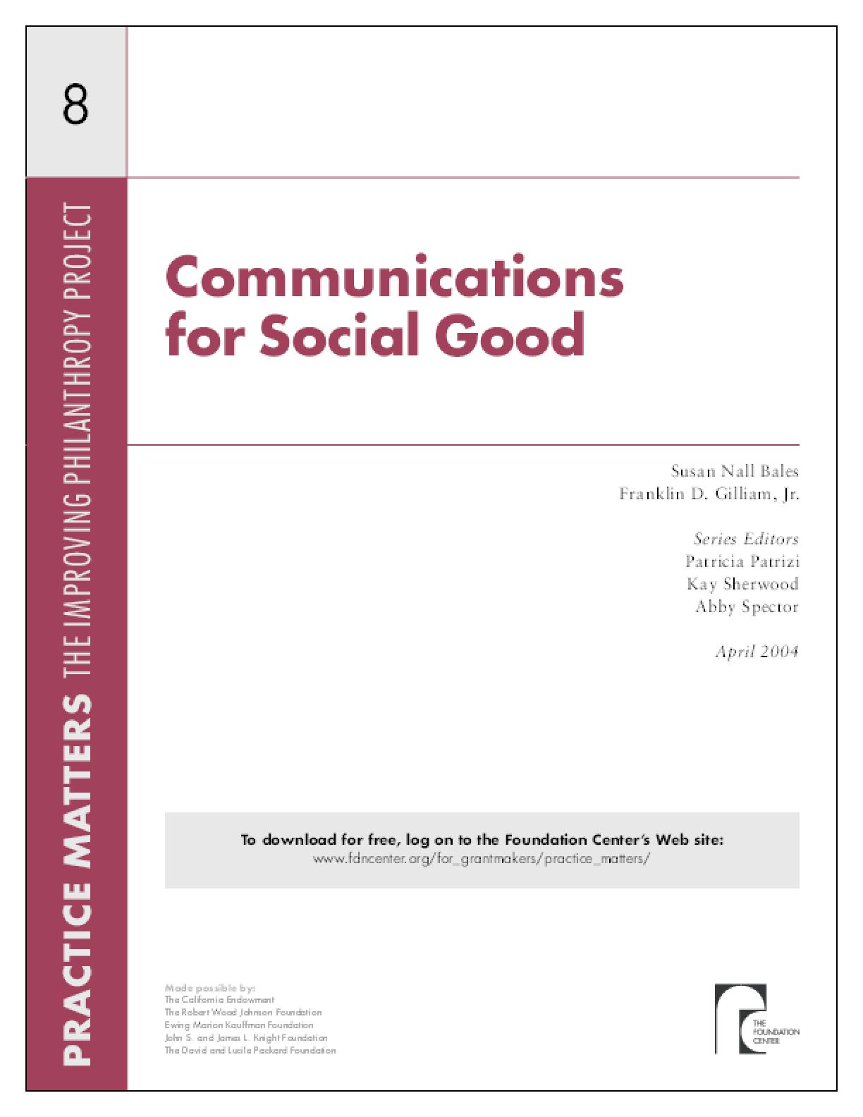 Communications for Social Good